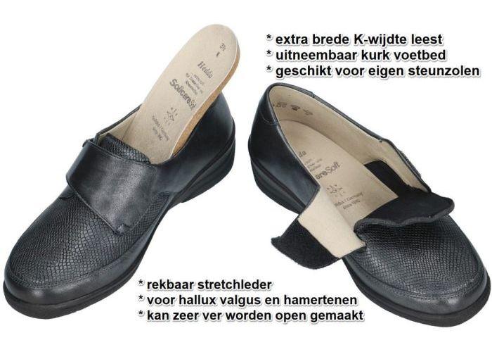 Solidus 26530-20266 HEDDA lage gesloten schoenen grijs  donker