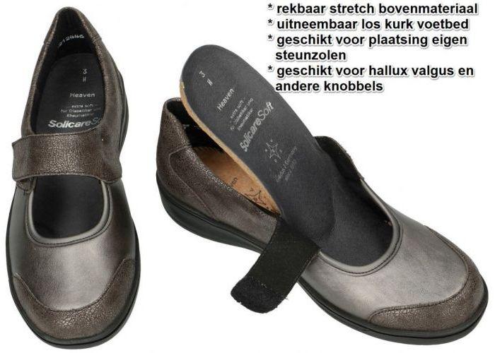 Solidus 27507-20619 HEAVEN (H) lage gesloten schoenen grijs  donker