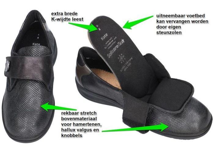 Solidus 29506-20328 KATE lage gesloten schoenen grijs  donker