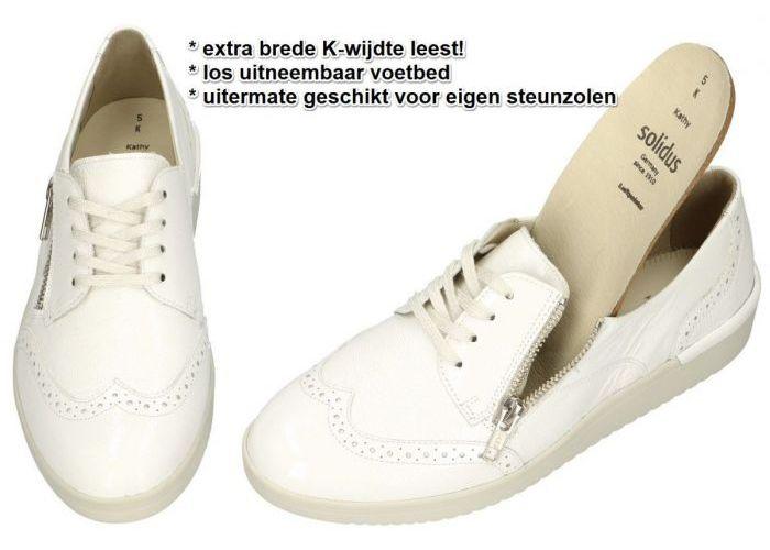 Solidus 51002-10158 KATHY lage gesloten schoenen wit