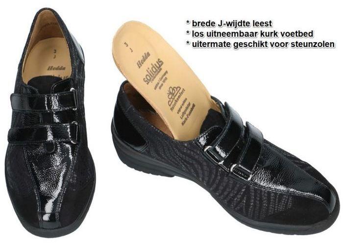 Solidus 26367-00981 HEDDA lage gesloten schoenen zwart