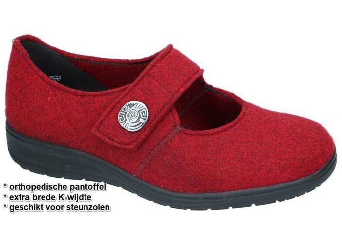 Damesschoenen Solidus PANTOFFELS 29066-50287  KATE Roze Donker