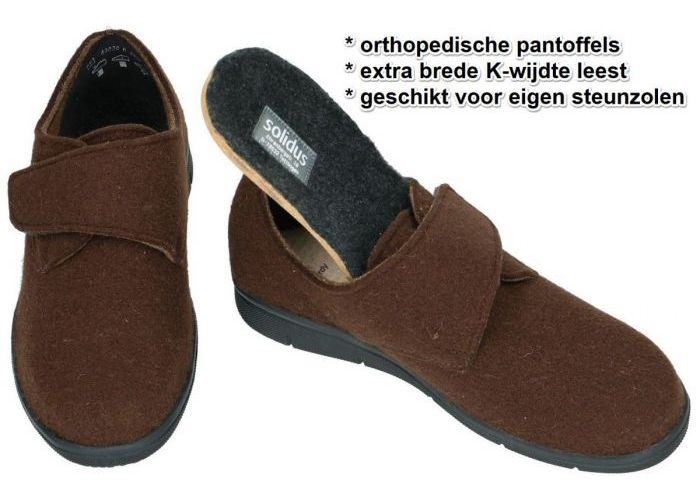 Solidus 64030-30452 HARDY (K) pantoffels & slippers bruin donker