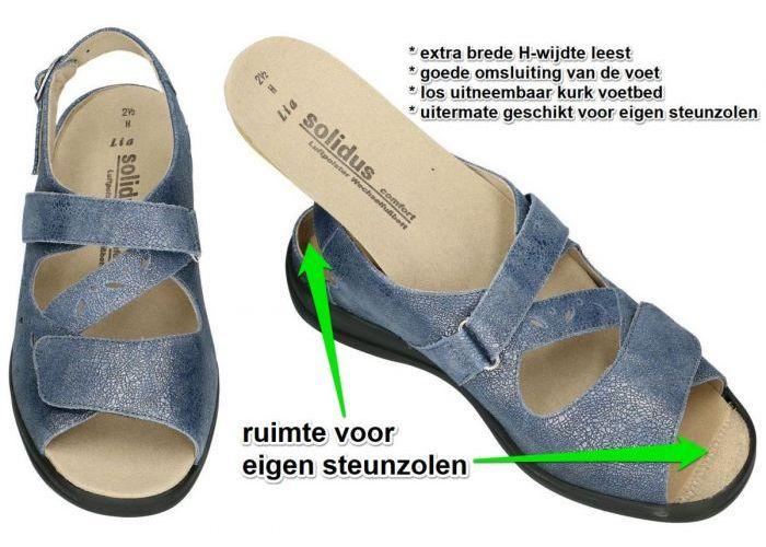 Solidus 73103-80369 LIA sandalen blauw