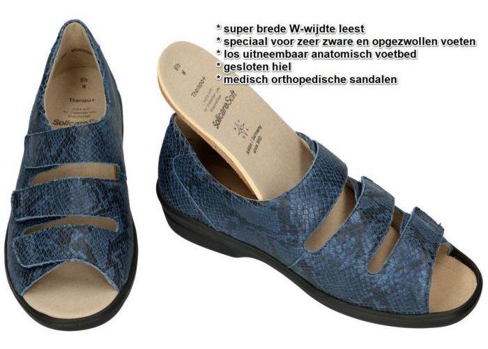 Solidus 47009-80670 THERAPO DAMEN (W) sandalen blauw donker
