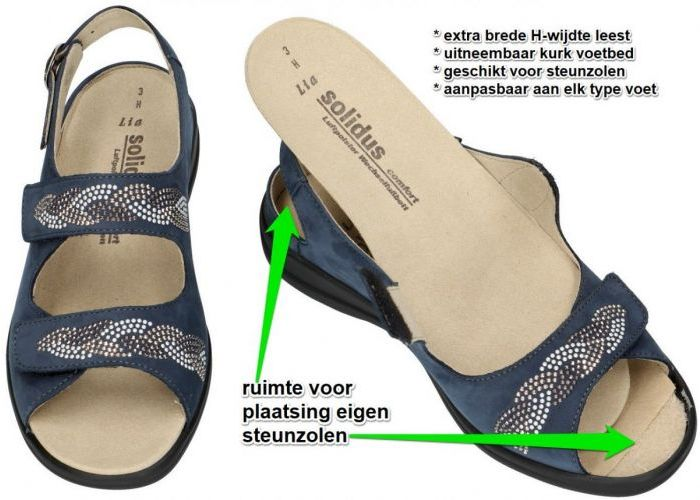 Solidus 73111-80033 LIA (H) sandalen blauw donker