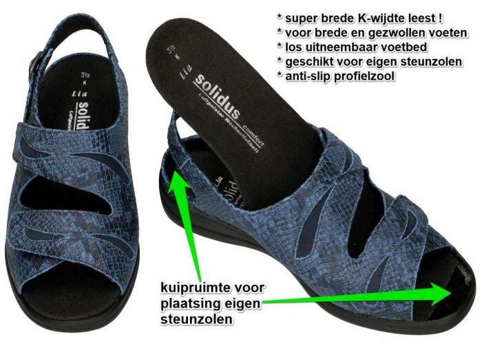 Solidus 73113-80264 LIA (K) sandalen blauw donker
