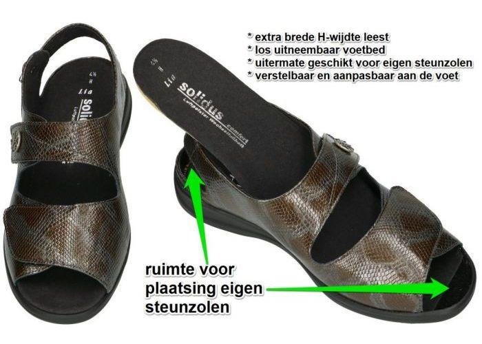 Solidus 73040-30250 LIA sandalen bruin