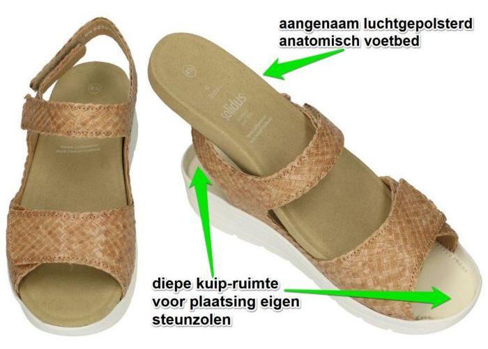 Solidus 48017 GRETA (G) sandalen camel