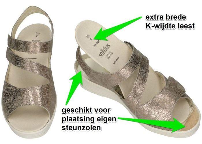 Solidus 50005-30218 KIRSTEN sandalen goud