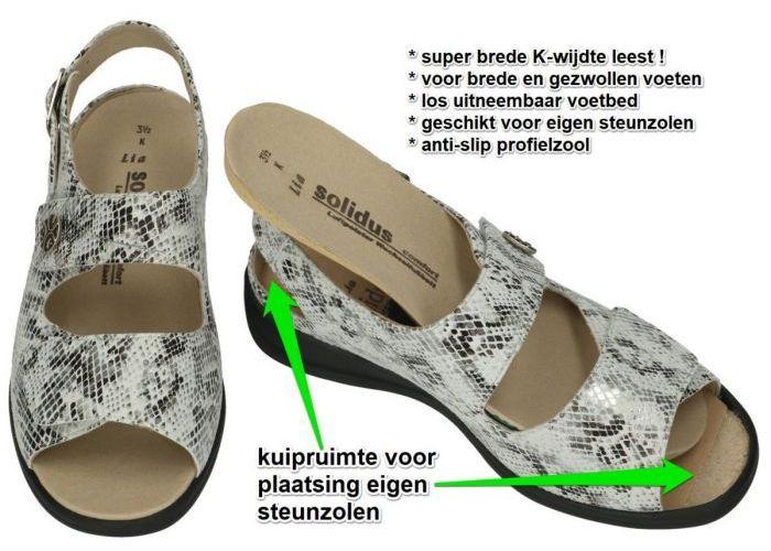 Solidus 73085-20025 LIA (K) sandalen grijs