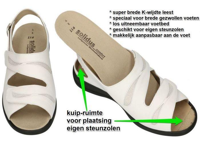 Solidus 73113-10049 LIA  sandalen off-white/ecru/parel