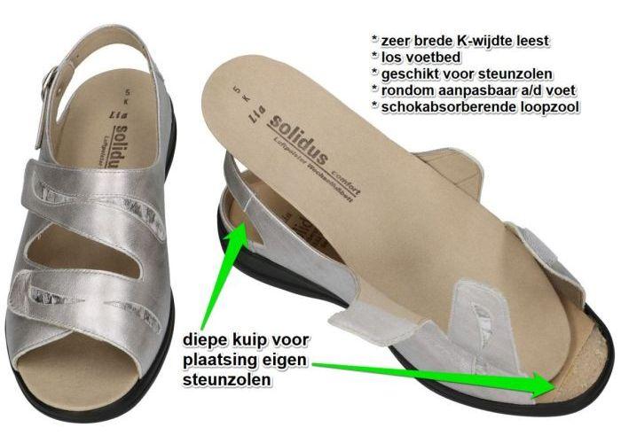 Solidus 73113-80197 LIA sandalen zilver