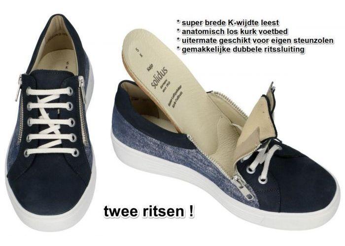 Solidus 32004-80174 KAJA sneakers  blauw donker