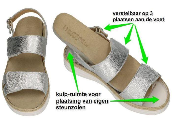 Stiledivita 8242 sandalen zilver