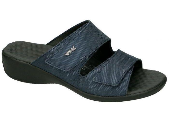 Vital 141726 KARIN slippers & muiltjes blauw donker