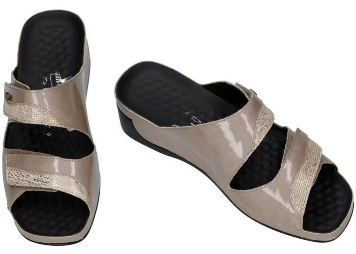 Vital 136394 TINA slippers & muiltjes taupe