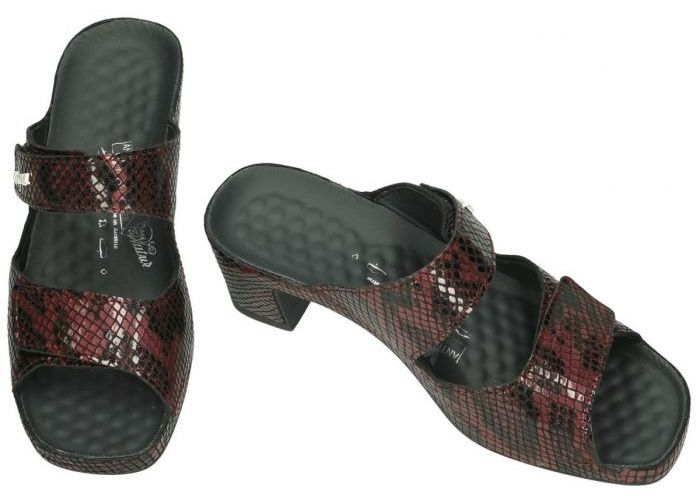 Vital 15905 JOY slippers & muiltjes bordeaux