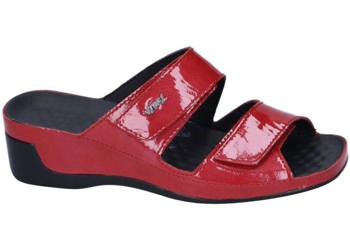 Vital 13605 TINA slippers & muiltjes rood