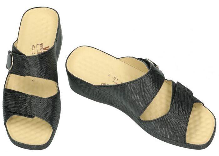Vital B1910 TINA slippers & muiltjes zwart