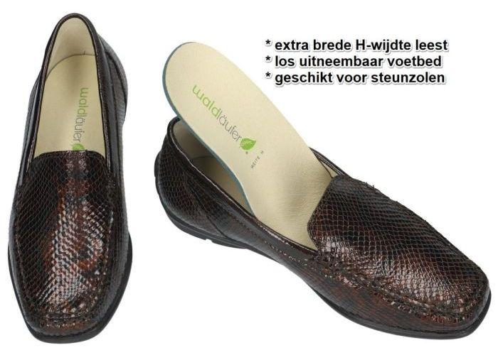 Waldlaufer 431000 (H) HARRIET ballerina's & mocassins bruin donker