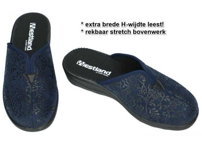 Westland 28982 NICE 82 pantoffels blauw donker