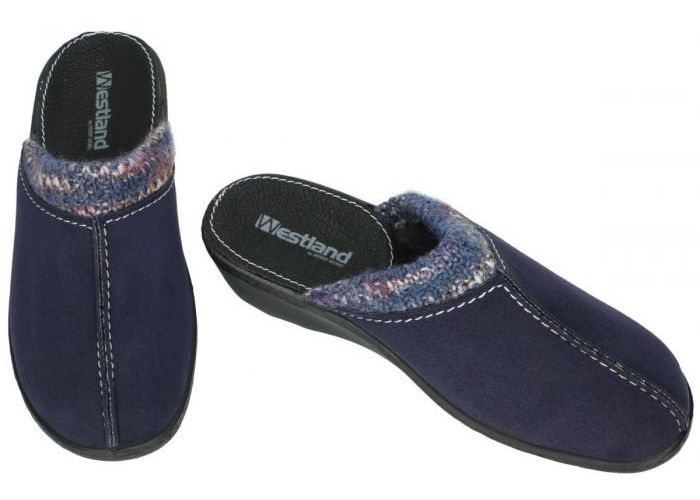 Westland 29308 AVIGNON 308 pantoffels blauw donker