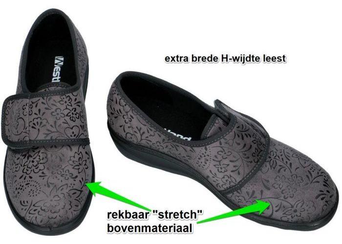 Westland 28980 NICE 80 pantoffels grijs