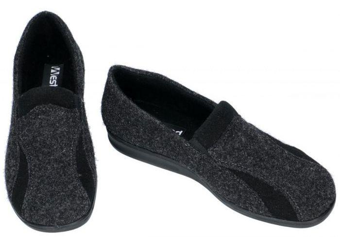 Westland 15508 BELFORT 108  pantoffels & slippers grijs  donker