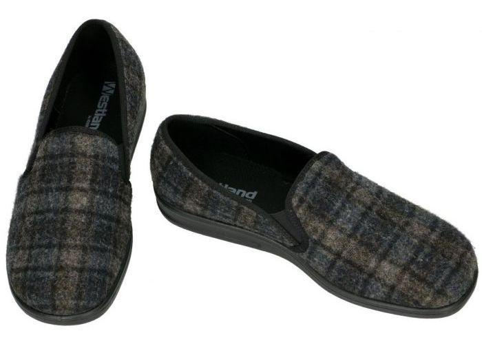 Westland 15522 BELFORT 122 pantoffels & slippers grijs  donker