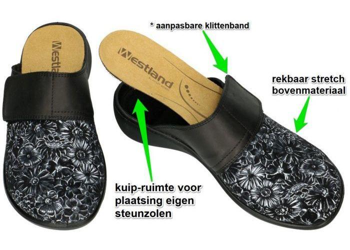 Westland 15346 KORSIKA 346 pantoffels zwart