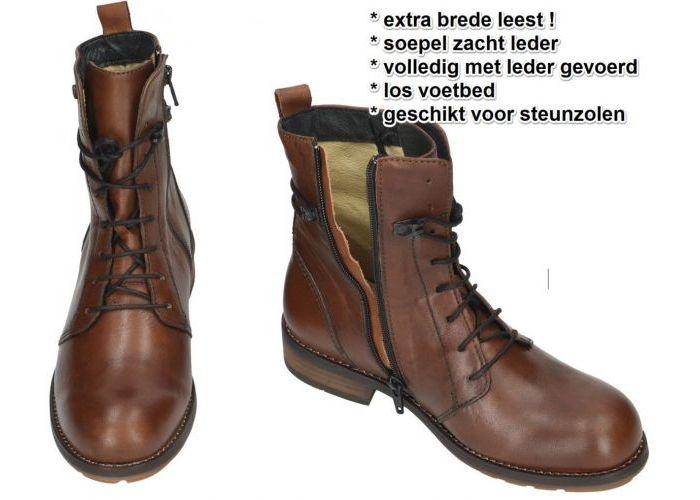 Wolky 0444420 Murray XW Velvet Leather enkellaarzen cognac/caramel