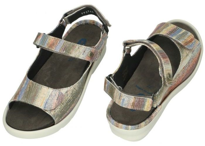Wolky 0392743 Delft Ligned suede sandalen multicolor