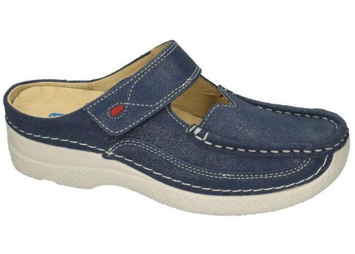 Damesschoenen Wolky SLIPPERS & MUILTJES 0622715 ROLL SLIPPER  Blauw