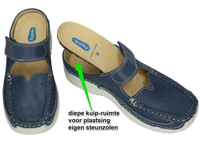 Wolky 0622715 ROLL SLIPPER  slippers & muiltjes blauw