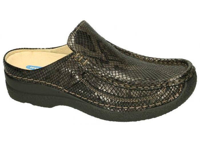 Damesschoenen Wolky SLIPPERS & MUILTJES 0620292 Roll Slide Gumus leather Bruin Donker