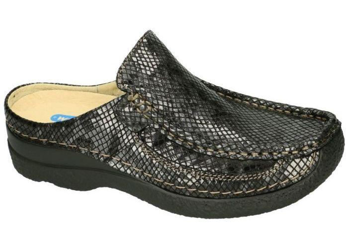 Damesschoenen Wolky SLIPPERS & MUILTJES 0620292 Roll Slide Gumus leather Grijs  Donker