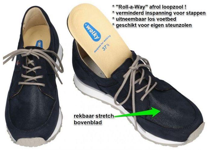 Wolky 0580411  E WALK  sneakers  blauw donker