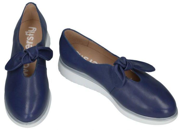 Wonders A-9704 ballerina's & mocassins blauw donker