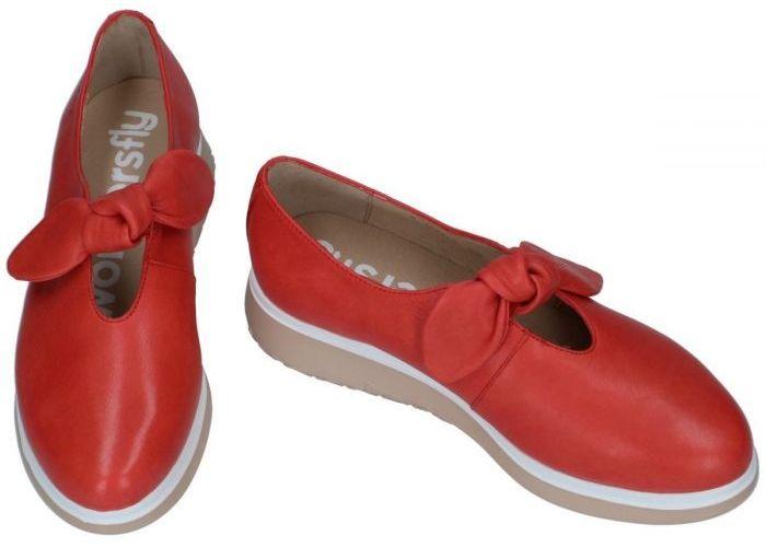 Wonders A9704 ballerina's & mocassins rood