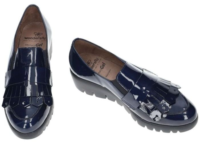 Wonders 8943 mocassins - loafers blauw