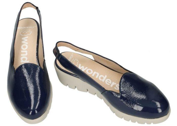 Wonders C-33204  ballerina's & mocassins blauw donker