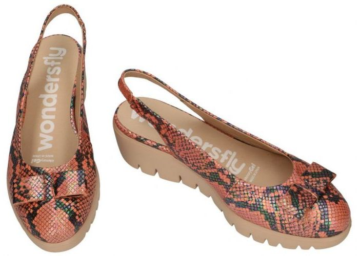 Wonders 10492 ballerina's & mocassins terracotta