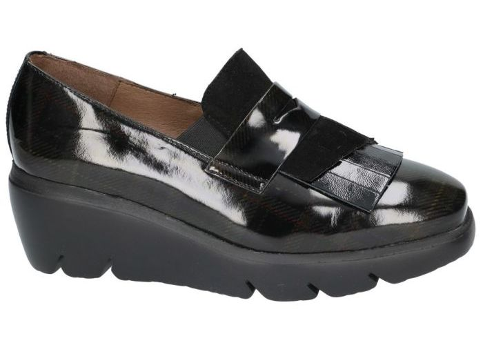 Wonders 10147 mocassins - loafers zwart