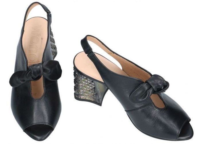 Wonders I-8102 sandalen zwart