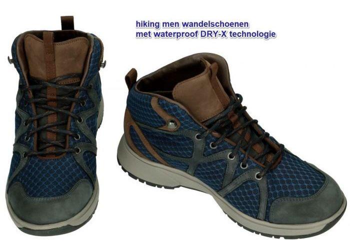 Xsensible 40405.5.293 HELSINKI MEN wandelschoenen blauw donker