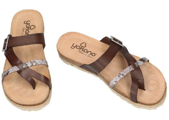 Yokono CHIPRE-101 slippers & muiltjes bruin donker