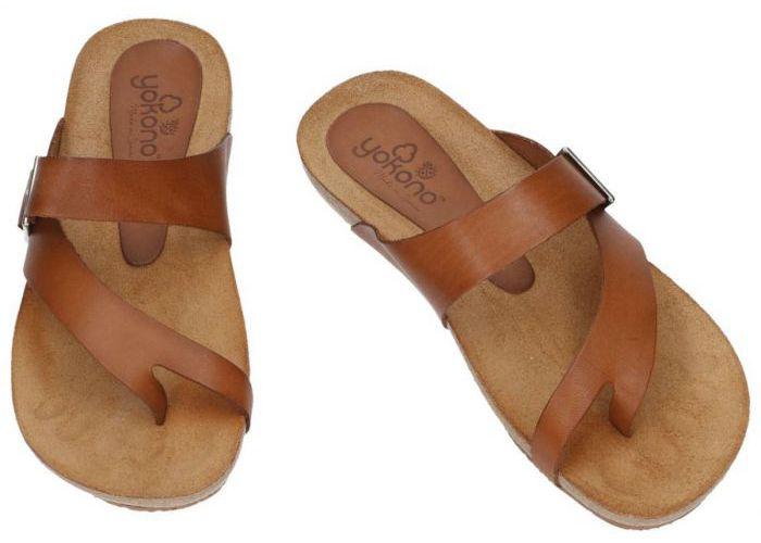 Yokono IBIZA-013 slippers & muiltjes cognac/caramel