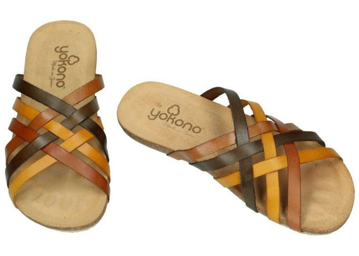 Yokono IBIZA-719 slippers & muiltjes multicolor