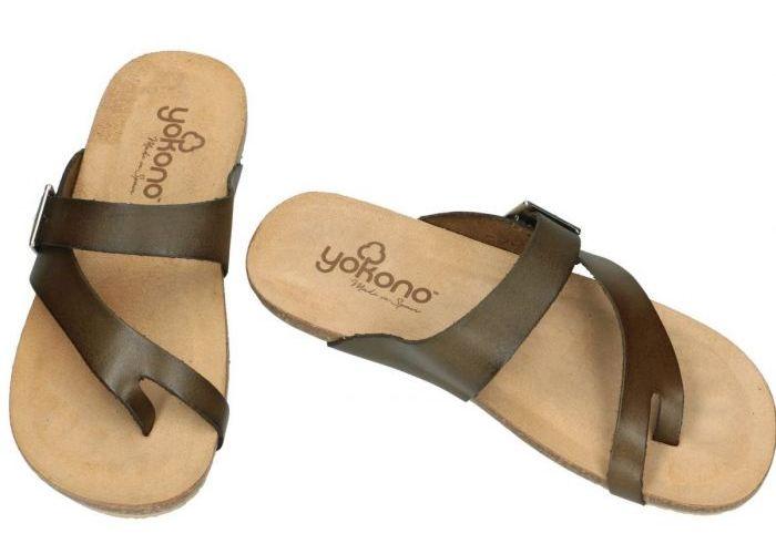 Yokono IBIZA-013 sandalia bio slippers & muiltjes bruin donker